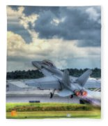 F-18 Hornet Takeoff Fleece Blanket