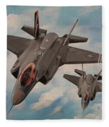 F-35's On Assignment  Fleece Blanket