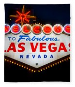 Fabulous Las Vegas Sign Fleece Blanket