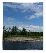 Fabulous Northern Summer - Georgian Bay Island Landscape Fleece Blanket