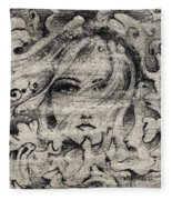 Face In The Storm Fleece Blanket