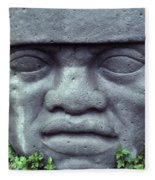 Face On Bali Fleece Blanket