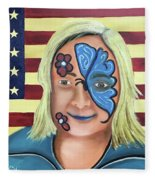 Face Paint And Freedom Fleece Blanket