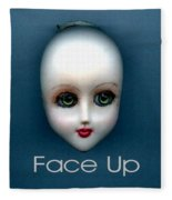 Face Up Fleece Blanket