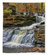 Factory Falls - Childs State Park Fleece Blanket