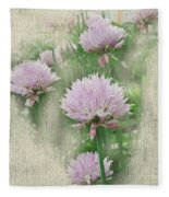 Faded Floral 11 Fleece Blanket