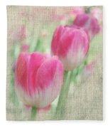 Faded Floral 8 Fleece Blanket
