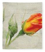 Faded Floral 9 Fleece Blanket