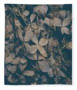 Faded Flowers Fleece Blanket
