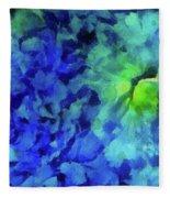 Fading Blue Fleece Blanket