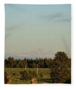 Faint Tetons Fleece Blanket