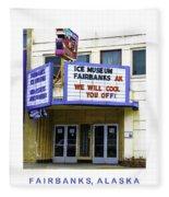 Fairbanks - Alaska Fleece Blanket
