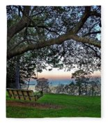 Fairhope Swing On The Bay Fleece Blanket