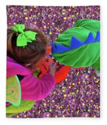 Fairies And Dragons Fleece Blanket