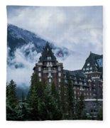 Fairmont Springs Hotel In Banff, Canada Fleece Blanket