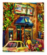 Fairmount Bagel In Montreal Fleece Blanket