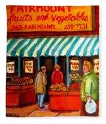 Fairmount Fruit And Vegetables Fleece Blanket