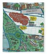 Fairmount Neighborhood Map Fleece Blanket