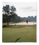 Fairway Hills - 2nd  - Toughest Par 5 In The Universe Fleece Blanket