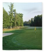 Fairway Hills - 4th - A Straight-in Par 4 Fleece Blanket