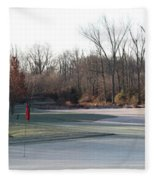 Fairway Hills - 7th - Beware Of The Tree And The Pond Panorama Fleece Blanket