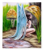 Fairy Amongst Poison Fleece Blanket