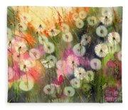 Fairy Dandelions Fields Fleece Blanket