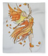 Fall Fairy Fleece Blanket