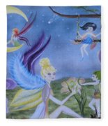 Fairy Play Fleece Blanket