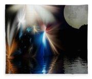 Fairy's Moonlight Ball Fleece Blanket