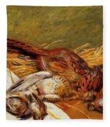 Faisans Canapetiere Et Grives 1902 Fleece Blanket