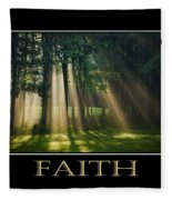 Faith Inspirational Motivational Poster Art Fleece Blanket