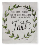 Faith Laurel Wreath Fleece Blanket