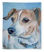 Beloved Dog Commission By Irina Sztukowski  Fleece Blanket