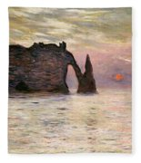 Falaise Detretat Fleece Blanket