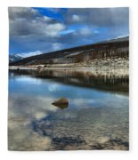 Fall Afternoon At Medicine Lake Fleece Blanket