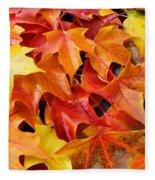 Fall Art Prints Red Orange Yellow Autumn Leaves Baslee Troutman Fleece Blanket