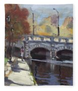 Fall At Delaware Park Buffalo Fleece Blanket