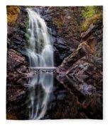 Fall At Fall River Falls Fleece Blanket