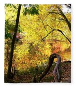 Fall At Lincoln Lake	 Fleece Blanket