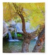 Fall At Murray Falls I Fleece Blanket