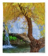 Fall At Murray Falls II Fleece Blanket