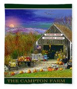 Fall At The Campton Farm Fleece Blanket