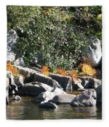Fall At The Creek Fleece Blanket