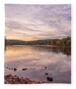 Fall At The Pond Fleece Blanket