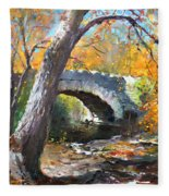 Fall At Three Sisters Islands Fleece Blanket