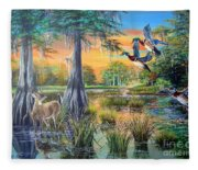 Fall Bounty- Big Cypress Swamp  Fleece Blanket