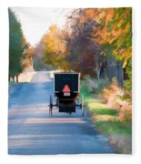 Fall Buggy Fleece Blanket