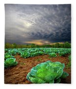 Fall Cabbage Fleece Blanket