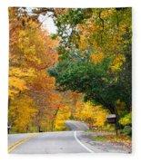 Fall Color Along Road  5643 Fleece Blanket